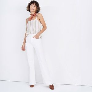 """Madewell 11"""" High Rise Flare Jeans Tile White 32"""